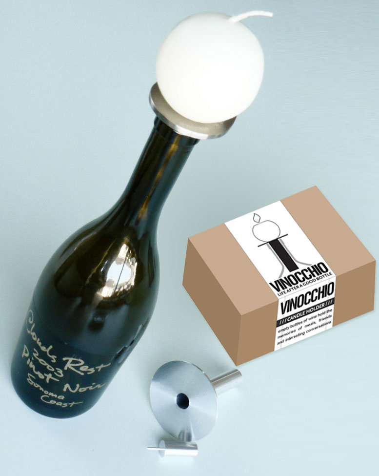 Vinocchio wine topper package by M-A-D