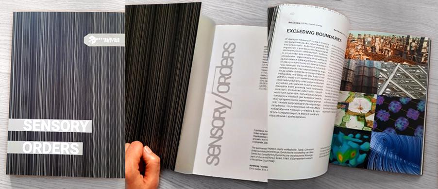 Sensory Orders Exhibit publication designed by Erik Adigard, M-A-D